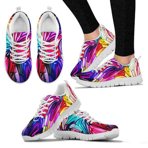 Colorful Liquid Art HandCrafted Sneakers.