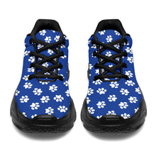 Load image into Gallery viewer, Paw Print Blue Chunky Sneakers