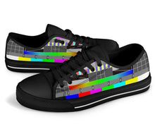 Load image into Gallery viewer, Glitch Black Low Tops