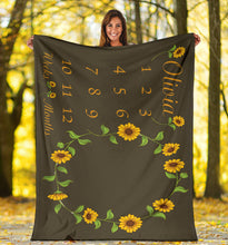 Load image into Gallery viewer, Sunflower Blanket 2 Brown