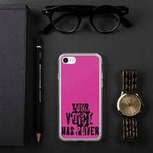 Load image into Gallery viewer, Your Voice Has Power Magenta iPhone Case