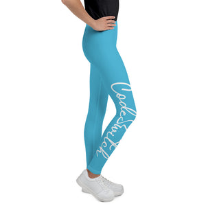Code Switch Blue and White Youth Leggings