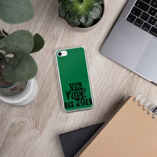 Load image into Gallery viewer, Your Voice Has Power Green iPhone Case