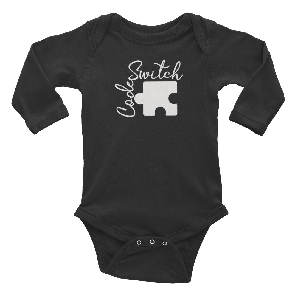Code Switch Puzzle Piece Long Sleeved Onesie