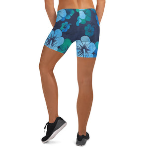 Blue Hibiscus Shorts