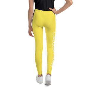 Code Switch Yellow and White Youth Leggings