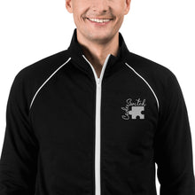 Load image into Gallery viewer, Code Switch Embroidered Piped Fleece Jacket