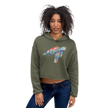 Load image into Gallery viewer, Watercolor SeaTurtle Crop Hoodie