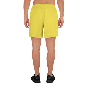 Code Switch Yellow and Black Men's Athletic Long Shorts