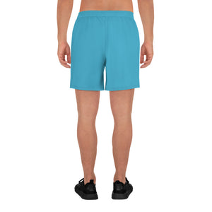 Code Switch Aqua and White Men's Athletic Long Shorts