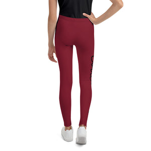 Code Switch Maroon Youth Leggings
