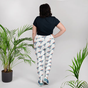 Watercolor Sea Turtle All-Over Print Plus Size Leggings