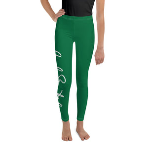 Code Switch Green and White Youth Leggings