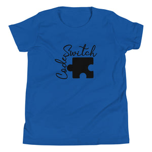 Code Switch Black Puzzle Piece Youth Short Sleeve T-Shirt