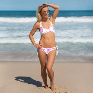 Sea Turtle Pink and White Bikini