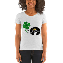 Load image into Gallery viewer, Luck of the Irish and Black Girl Magic Ladies' short sleeve t-shirt