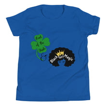 Load image into Gallery viewer, Luck of the Irish and Black Girl Magic Youth Short Sleeve T-Shirt