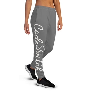 Code Switch Dark Grey and White Women's Joggers