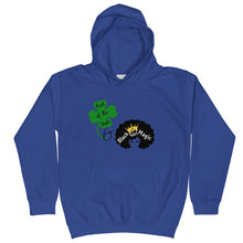 Load image into Gallery viewer, Luck of the Irish and Black Girl Magic Kids Hoodie