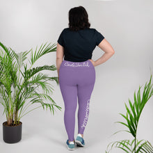 Load image into Gallery viewer, Purple and White Code Switch Plus Size Leggings
