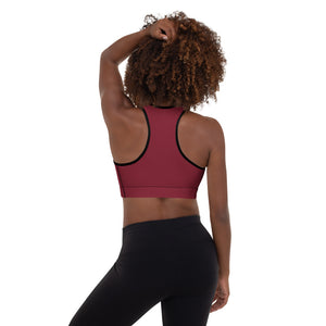 Wine Code Switch Black Puzzle Piece Padded Sports Bra