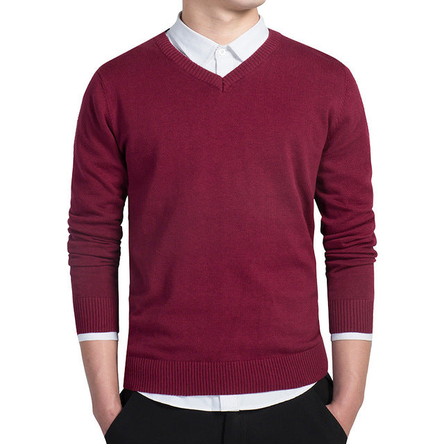 V-neck Knitted Sweaters