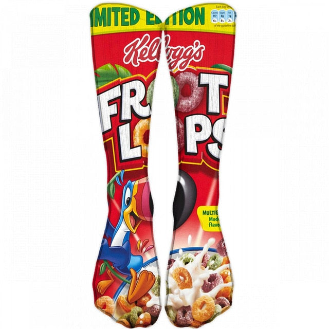 Food Hamburg Printed Men Socks