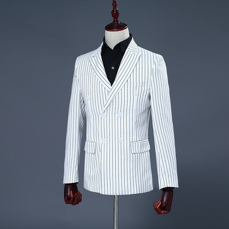 White Stripe Dress Suits
