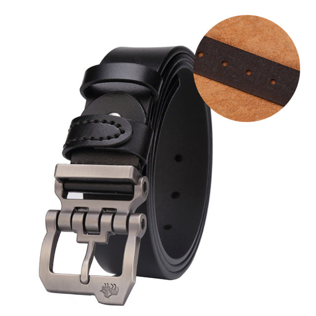 Cowskin Genuine Leather Personality Men Belt