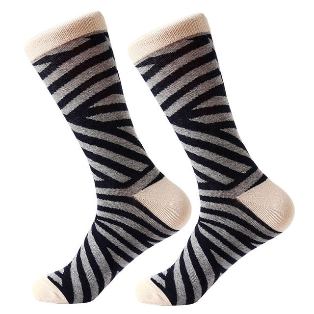 1 Pair Men Combed Cotton Socks