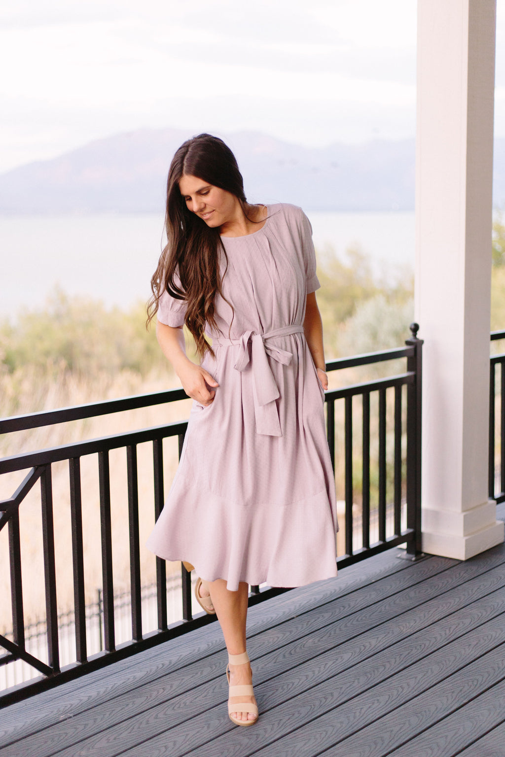 Hello Blossom Grove Dress In Grey
