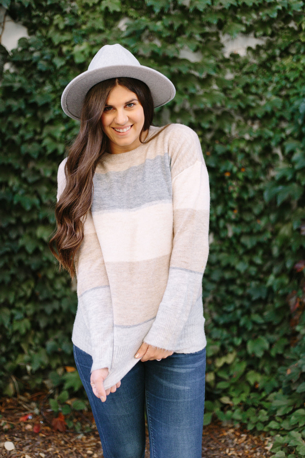 Chilling In Autumn Stripe Sweater