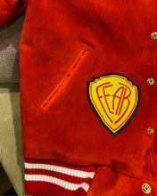 Load image into Gallery viewer, Candy Apple Red Varsity Jacket