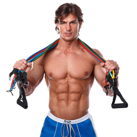 Green And Red Combination Cheaper Short Resistance Band Body Gym Power Training Sports & Entertainment