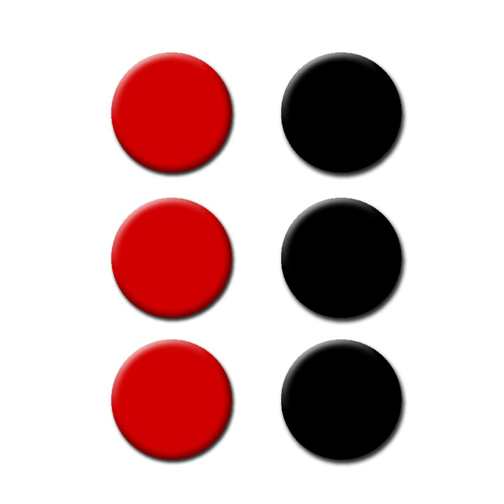 Agility Dots - Set of 6 - 3 Black and 3 Red