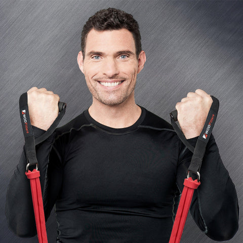WODFitters Home Gym Exercise Band Handles and Attachment Set