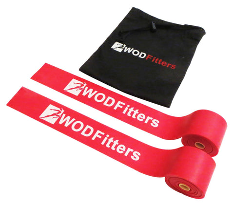 WODFitters Floss Bands for Compression, Mobility and Tack and Flossing - 2 Pack