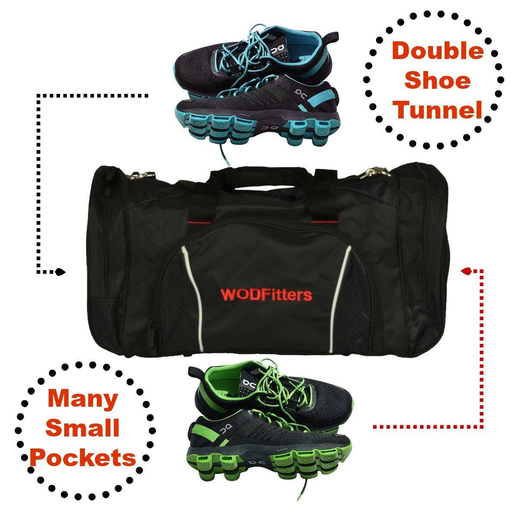 992a1704b03 WODFitters Cross Training Gym Bag with Shoe Tunnel   WODFitters