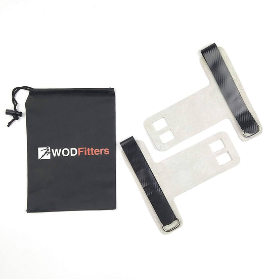 WODFitters Textured Leather Hand Grips for Pull Ups, Gymnastics and Weight Lifting