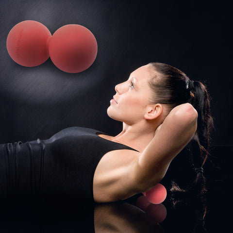 WODFitters Mobility Double Lacrosse Ball (Peanut Massage Ball)
