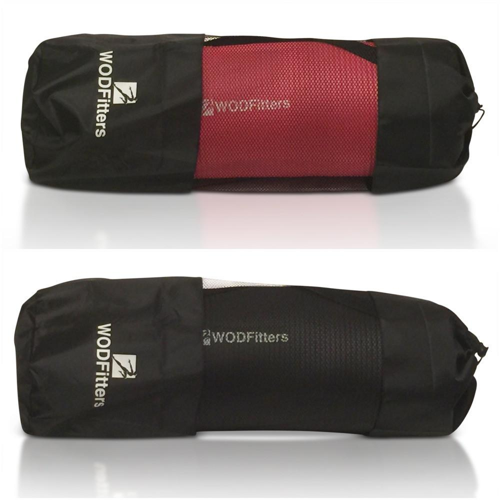 WODFitters NBR Workout Mat - Extra Thick for Ultimate Comfort - with Carrying Strap and Bonus Carrying Bag