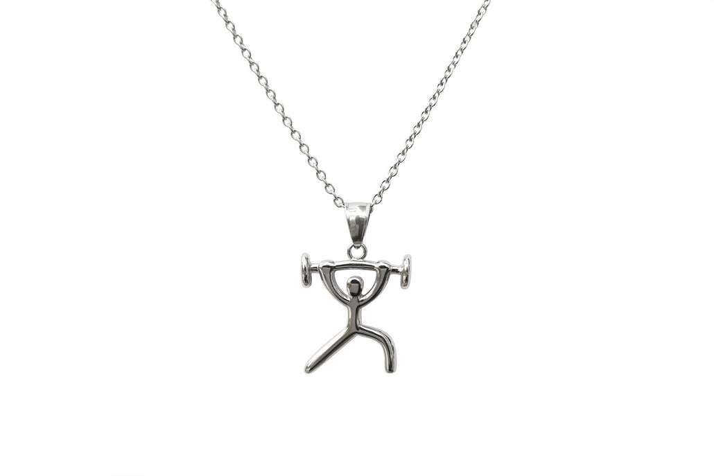 Stainless Steel Weightlifting / Fitness Necklace