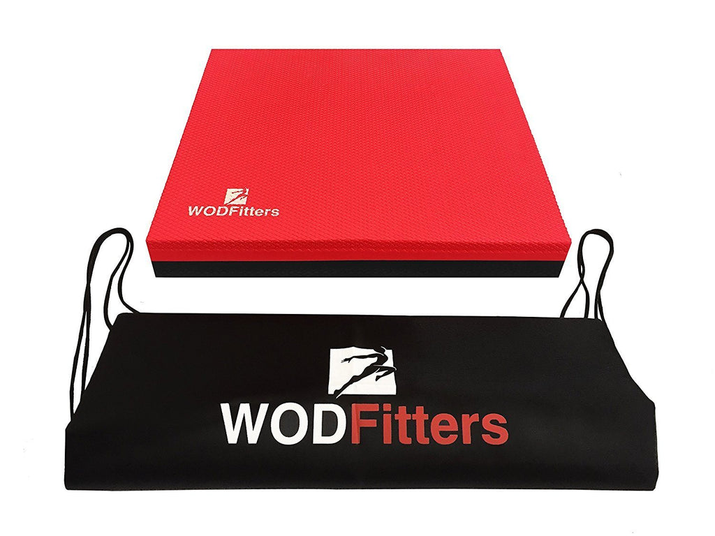 WODFitters Balance Pad - Unique 2 Layered Closed Cell Foam Technology for Balance and Core Strength Training. - Also Ideal as Pads for Hand Stand Push ups - with Carrying Bag