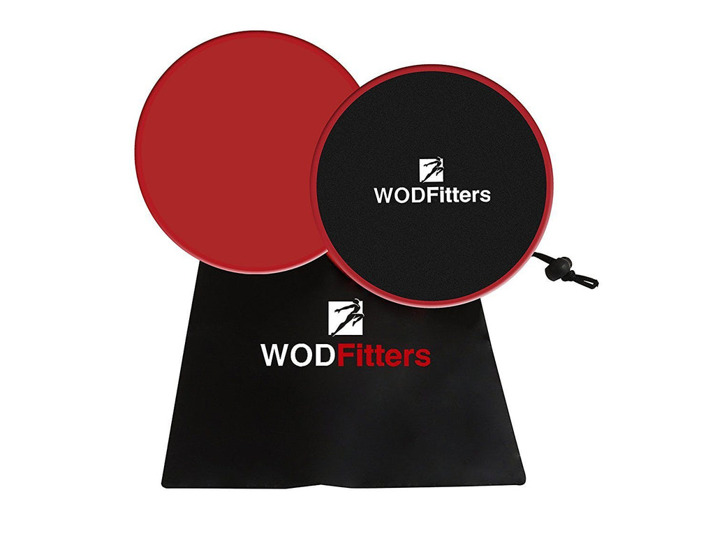 WODFitters Core Workout Sliders—Double Sided Fitness Sliders For Gliding Smoothly On Any Surface—For Low Impact Total Body Exercise