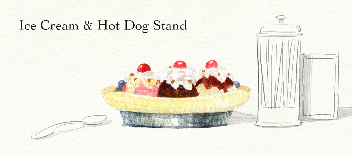Ice Cream & Hot Dog Stand by Felix Doolittle