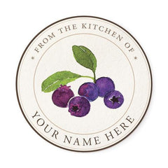 Blueberry Chef Medallion Label