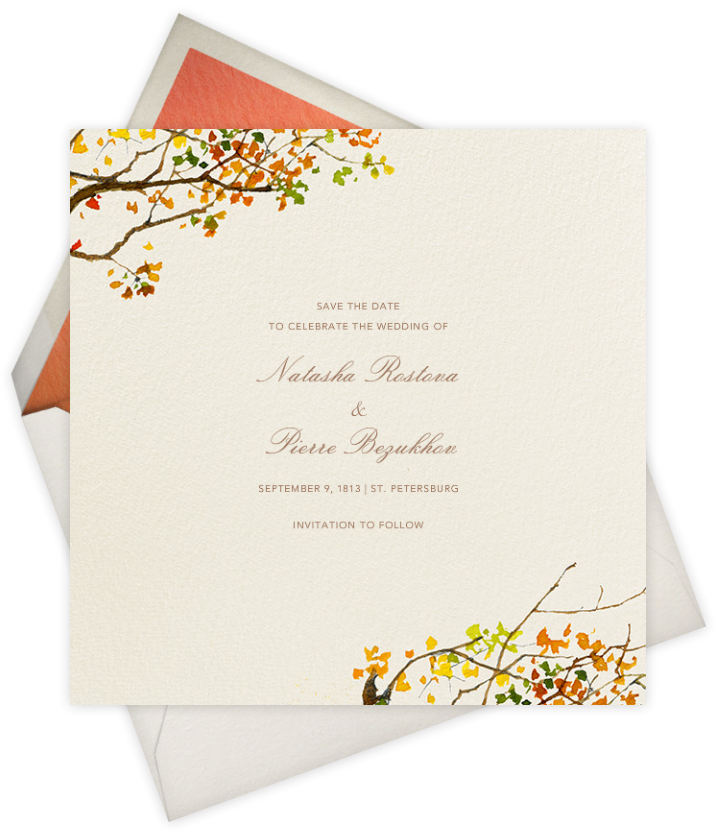 autumn winter wedding invitations paperless post x felix doolittle