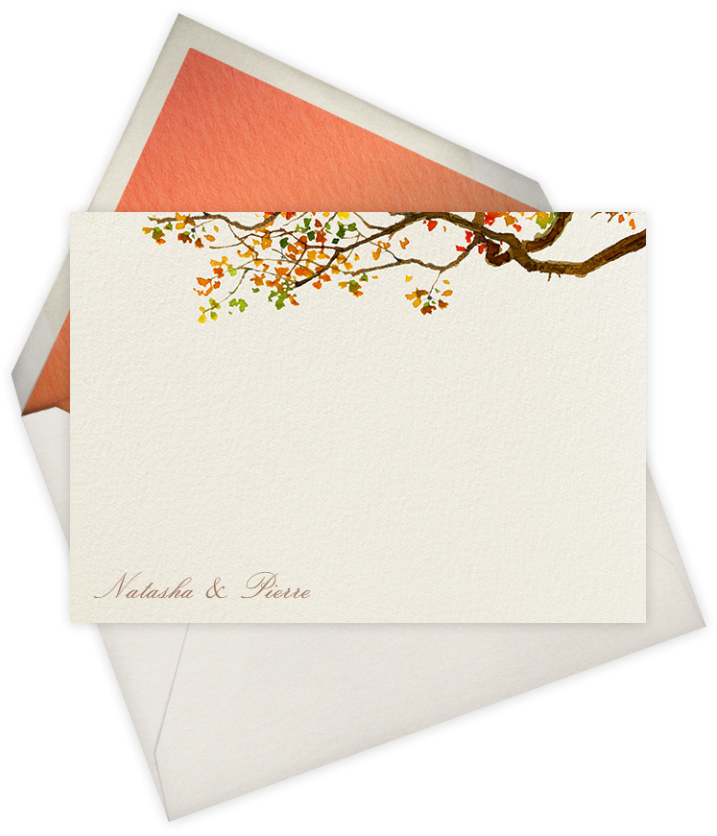 Autumn Boughs | Stationery Note Card