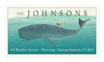 Whale Rider - Panoramic Return Address Labels