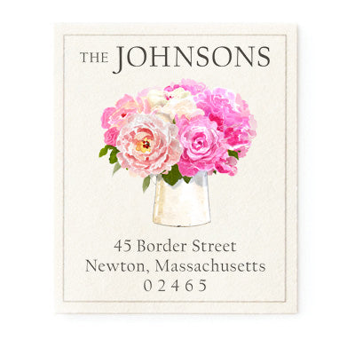 Pink Return Label Pretty in Pink Collection Address Label Pink Watercolor Return Label Return Address Label